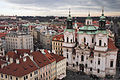 St. Nicholas Church (Malá Strana), aerial view. Prague, Czech Republic, Western Europe. January 8, 2014.jpg