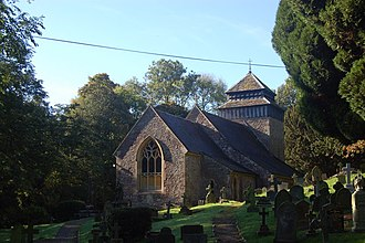 Rockfield, Monmouthshire - Image: St Cenedlon's church, Rockfield geograph.org.uk 1009746