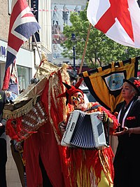 St George's Day in Gravesend, Kent b