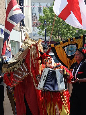 Saint George's Day - A St. George's Day celebration in Kent, 2011
