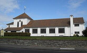 St Mary's Church, Hampden Park, Eastbourne - Image: St Mary's Church, Hampden Park, Eastbourne (Io E Code 470628)