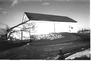 Stahly–Nissley–Kuhns Farm - Stahly Bank Barn, Stahly–Nissley–Kuhns Farm, Amish Acres, Indiana
