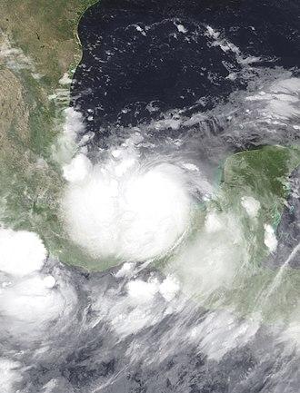 Hurricane Stan - Image: Stan 2005 10 04 0755Z