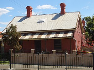 Belmore, New South Wales - Image: Station masters cottage Belmore