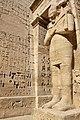 Statue at Medinet Habu on West Bank Luxor Egypt.jpg