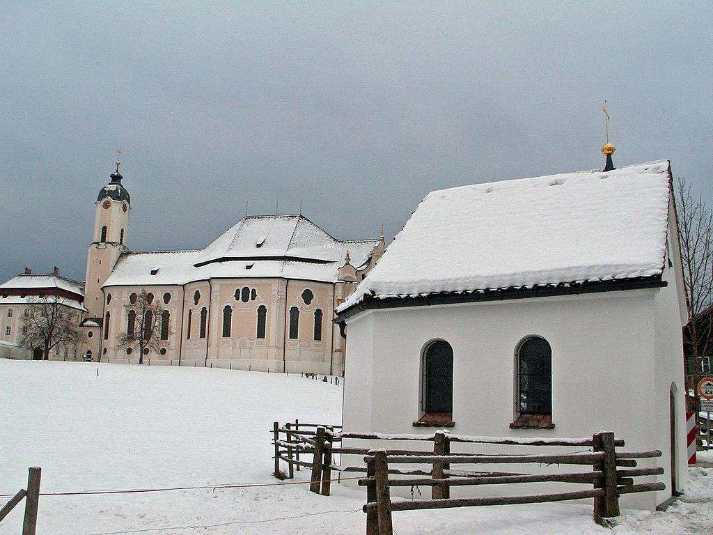 Steingaden - Wieskirche, Kapelle v N, Winter