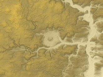 Steinheim crater - Relief Map