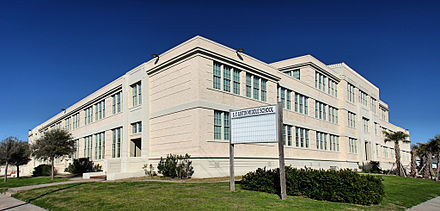Constructed in 1939, the Stephen F. Austin Junior High building now houses  a middle