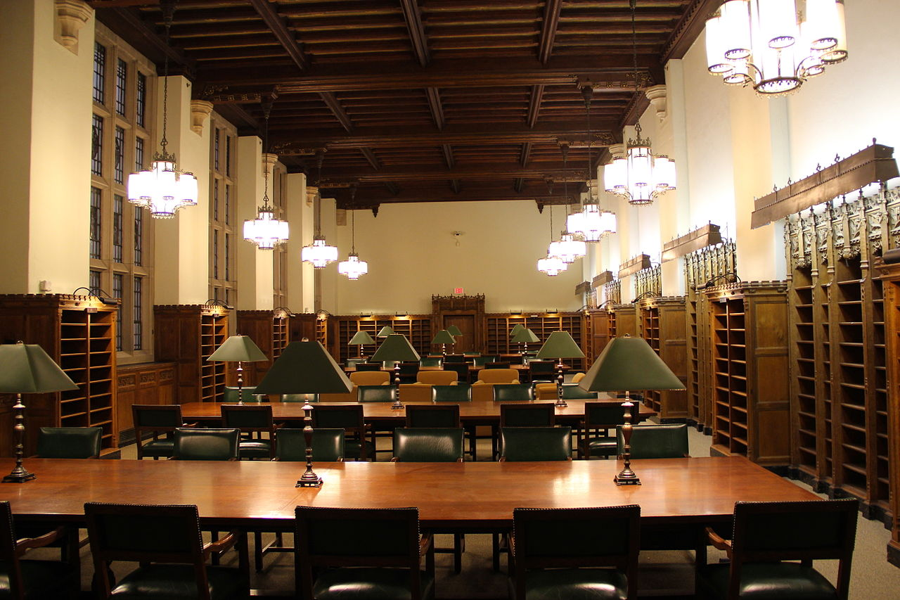 Reading Room Sterling Library Yale