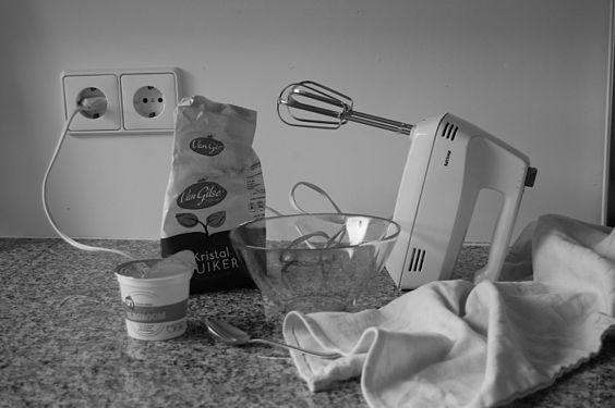 Still life in black and white for preparing whipped cream.jpg