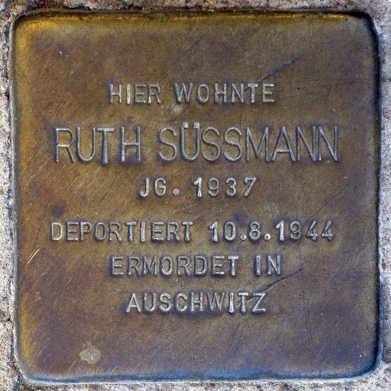 Stolperstein.Prenzlauer Berg.Christinenstraße 35.Ruth Süssmann.5619.jpg