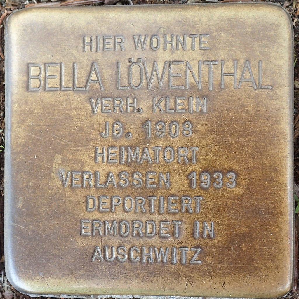 Stolperstein Duderstadt Marktstraße 9 Bella Löwenthal