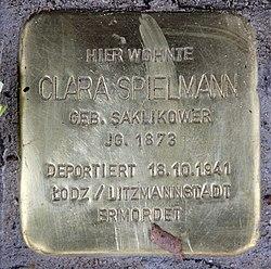 Photo of Clara Spielmann brass plaque