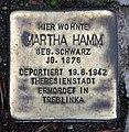 Stolperstein Landshuter Str 14 (Schön) Martha Hamm.jpg