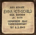 Stolperstein für Emma Rothschild (Cottbus).jpg