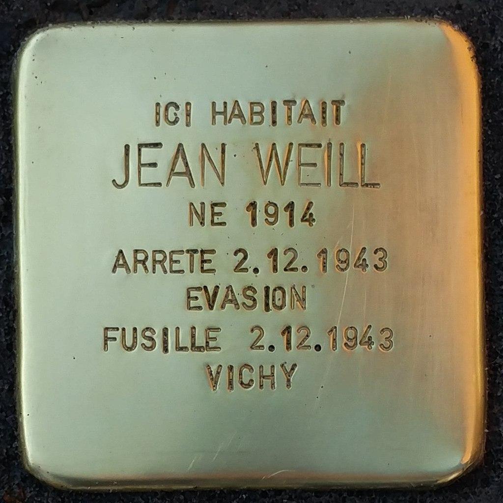 Stolperstein Jean Weill (Herrlisheim-près-Colmar)