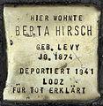 Stolpersteine Köln, Berta Hirsch (Aachener Straße 28).jpg
