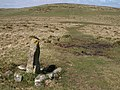 Stone north of Western Beacon - geograph.org.uk - 1274189.jpg