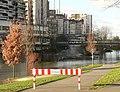 Sturmtief Burglind Hochwasser Ihme Ihmezentrum Schild 07.01..jpg