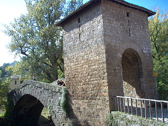 Subiaco, Lazio - The medieval St. Francis' bridge.
