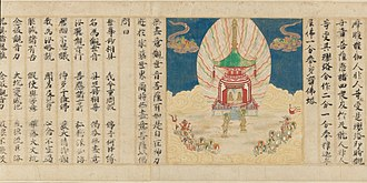 Lotus Sutra - The floating jeweled stupa.
