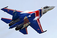 Sukhoi Su-27P of Russian Knights in 2010.jpg
