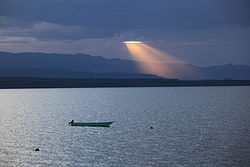 Sunset over Lake Baringo, Baringo County, Kenya