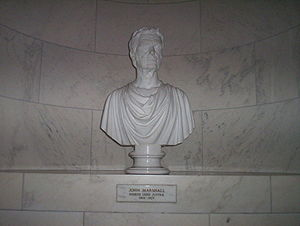 Sculpture of Chief Justice John Marshall