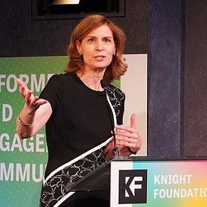 Susan P. Crawford - Susan Crawford keynotes a Knight News Challenge event in New York City, November 2017.
