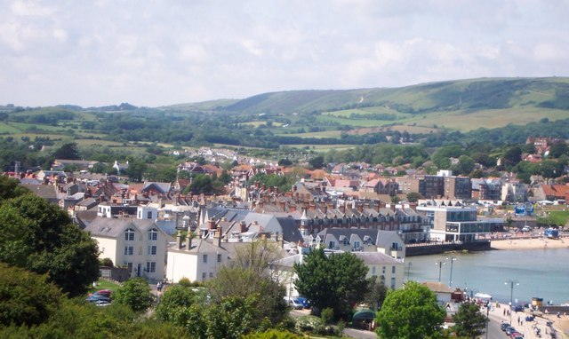Swanage from the high ground - geograph.org.uk - 691537