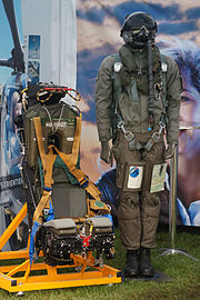 Swiss Air Force flight suit and ejection seat