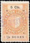 Switzerland Lucerne 1903 revenue 6 10c - 92 - E 10 03.jpg