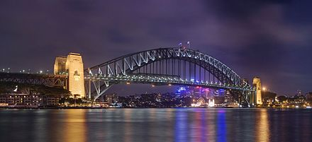 The Sydney Harbour Bridge is an important tourist attraction for New South Wales and a globally recognised image of Australia itself. Sydney Harbour Bridge from Circular Quay.jpg
