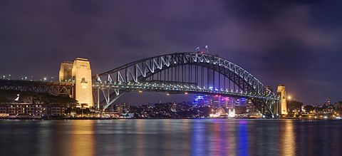 Sydney Harbour Bridge, a bridge of this type. - Through arch bridge