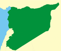 Territory of the Syrian Republic as proposed in the unratified Franco-Syrian Treaty of 1936. (Lebanon was not part of the plan). In 1938, Alexandretta was also excluded.