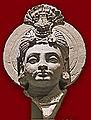 Tête de Bodhisattva (musée d'art asiatique de Dahlem, Berlin) (12590181534).jpg