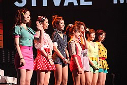 T-ara beim Cyworld Dream Music Festival (2011)