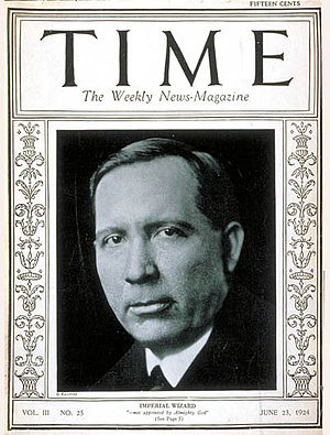Hiram Wesley Evans - Evans on the cover of Time, June 23, 1924