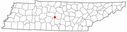 Location of Eagleville, Tennessee