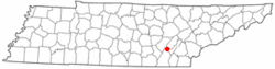 Location of Graysville, Tennessee