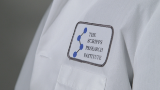Scripps Research - A Scripps Research lab coat (with the facility's previous name)