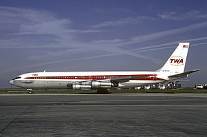 Dawson's Field hijackings - A TWA Boeing 707 similar to the hijacked craft