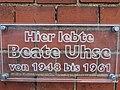 Tafel an der Propstei Flensburg, Hier lebte Beate Uhse von 1948-1961, Bild 05.jpg