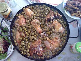 Image illustrative de l'article Tajine de poulet aux olives