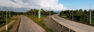 Tagum - Maharlika Highway - Gov. Generoso Bridge Junction to Tagum (right) and to Carmen (left)