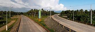 Tagum - Maharlika Highway - Gov. Generoso Bridge Junction to Tagum (right) and to Carmen (left)