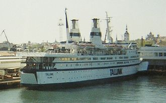 Tallink - The original MS Tallink in Tallinn harbour, 1994.