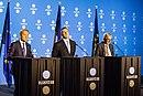 Tallinn Digital Summit. Press conference Donald Tusk, Jüri Ratas and Jean-Claude Juncker (36683837554).jpg