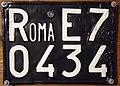 Targa automobilistica Italia 1932 Roma•E7 0434 posteriore Flickr - woody1778a.jpg