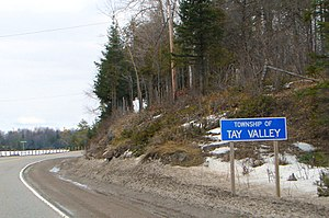 Tay Valley, Ontario - Road sign along Highway 7